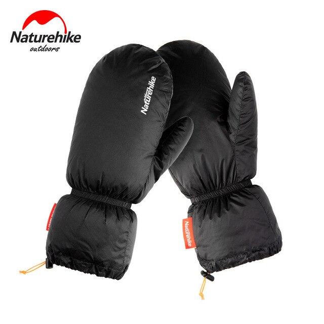 Naturehike White Goose Down Gloves Warm Portable Winter Sport Waterproof Camping Hiking Cycling Motorcycle Bicycle Ski Gloves